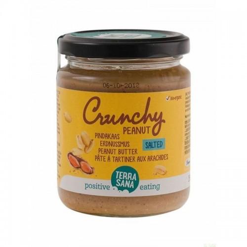 crema cacahuete con trozos sal himalaya terrasana 250 gr bio
