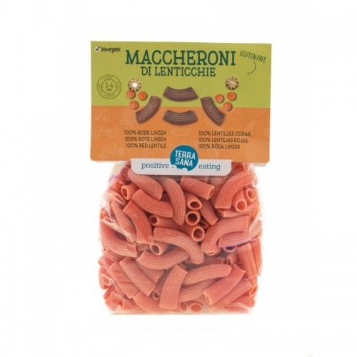 macarron lenteja roja 100 sin gluten terrasana 250 gr bio