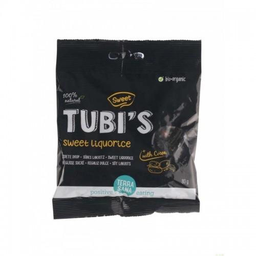 regaliz dulce tubi s cacao terrasana 80 gr bio