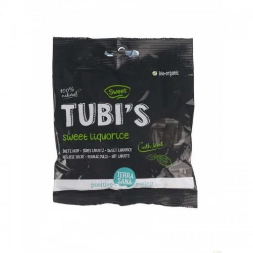 regaliz dulce tubi s menta terrasana 80 gr bio