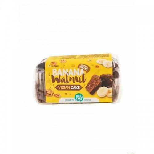 vegan cake platano nuez terrasana 350 gr bio