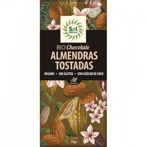 chocolate almendras sol natural 70 gr bio