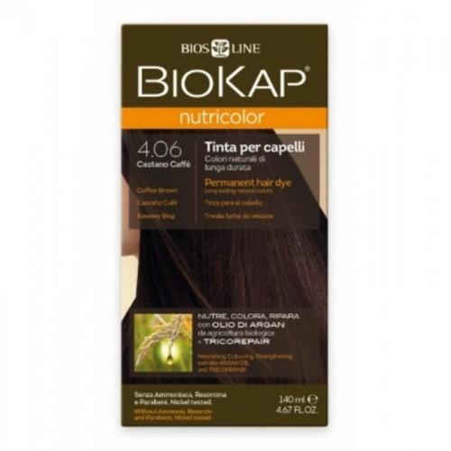 tinte castaño cafe 406 biokap 140 ml bio