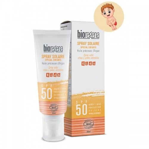 Spray solar niños pieles...