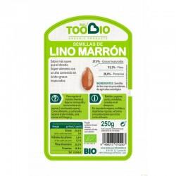 semilla lino marron too bio 250 gr bio