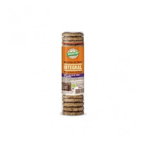 galleta trigo inetgral chia lino jengibre biocop 250 gr bio