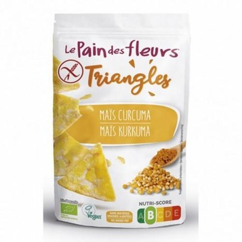 triangulos maiz curcuma pan flores 50 gr bio