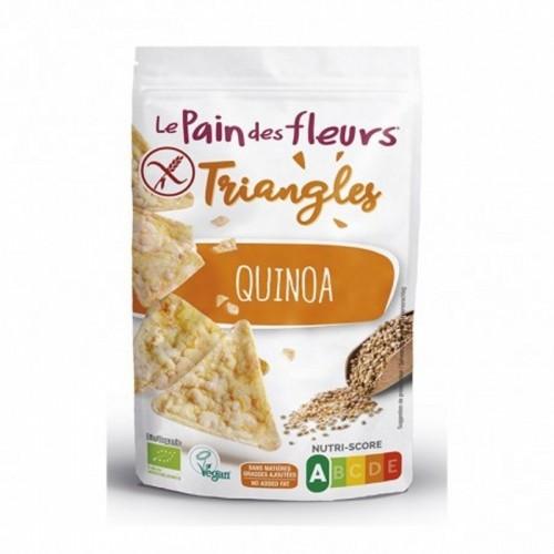 triangulos maiz quinoa pan flores 50 gr bio