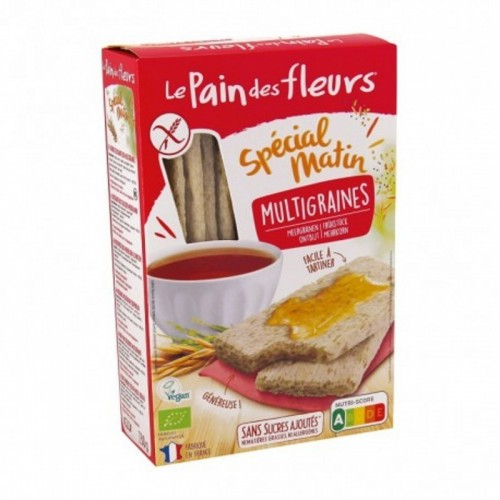 tostada multicereal pan flores 500 gr bio