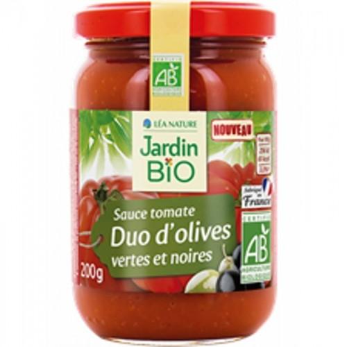 salsa tomate aceituna jardin bio 200 gr