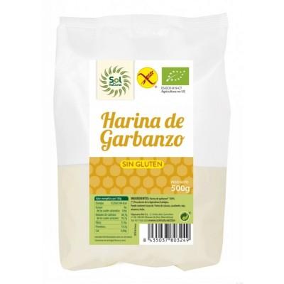 harina garbanzo sin gluten sol natural 500 gr bio