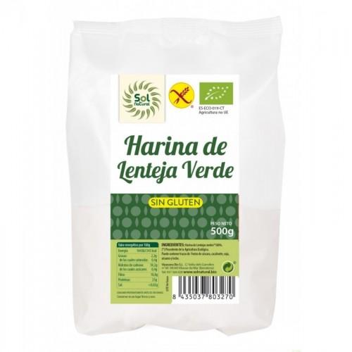 harina lenteja verde sin gluten sol natural 500 gr bio