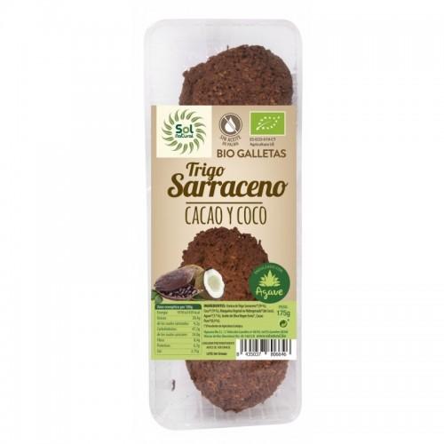 galleta trigo sarraceno cacao y coco agave sol natural 175 gr bio