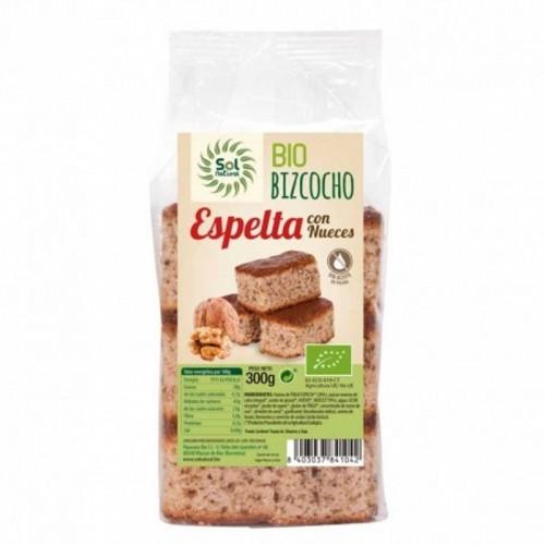 bizcocho espelta nueces sol natural bio 300 gr