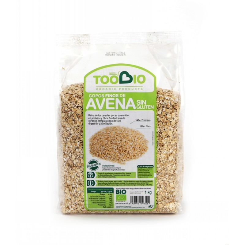 copos avena finos sin gluten too bio 1 kg bio