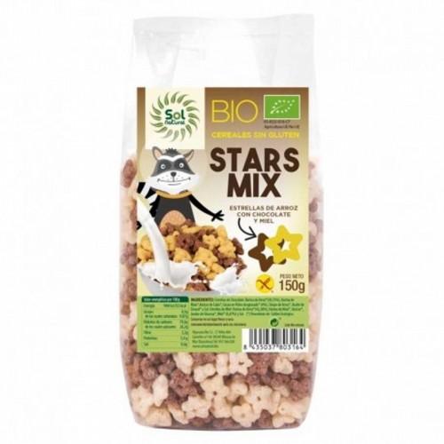 estrellas choco miel sin gluten sol natural 150 gr bio