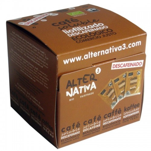 cafe liofilizado soluble descafeinado alternativa 3 25x2 gr bio