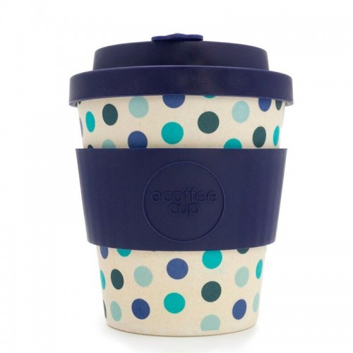vaso de bambu blue polka topos azules ref314 alternativa 3 240ml