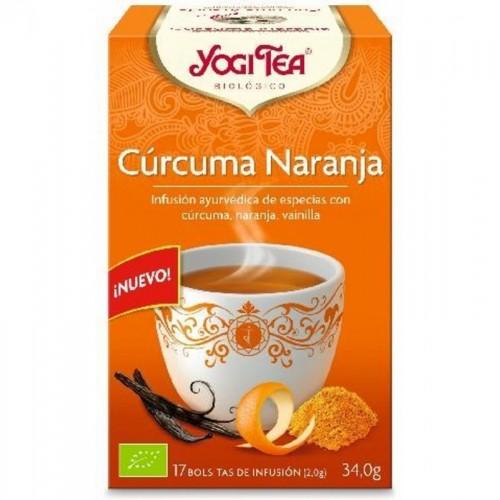 yogi tea infusion curcuma naranja 17 bolsas bio