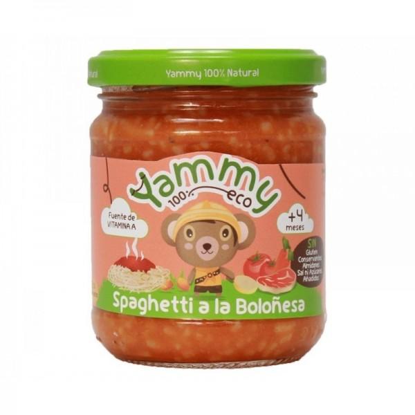 potito spaguetti boloñesa yammy 195 gr bio
