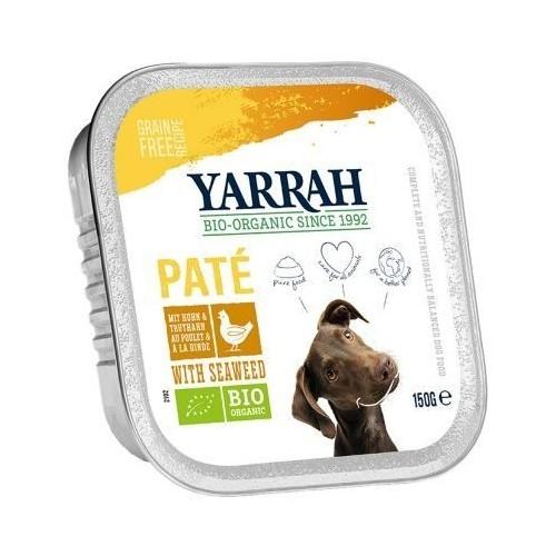tarrina perros pollo algas yarrah 150 gr