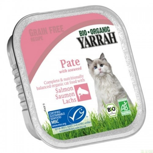 tarrina gatos salmon yarrah 100 gr