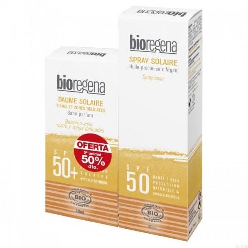 oferta solar pieles sensibles rostro zonas delicadas bolsa spf50 bioregena 90 ml