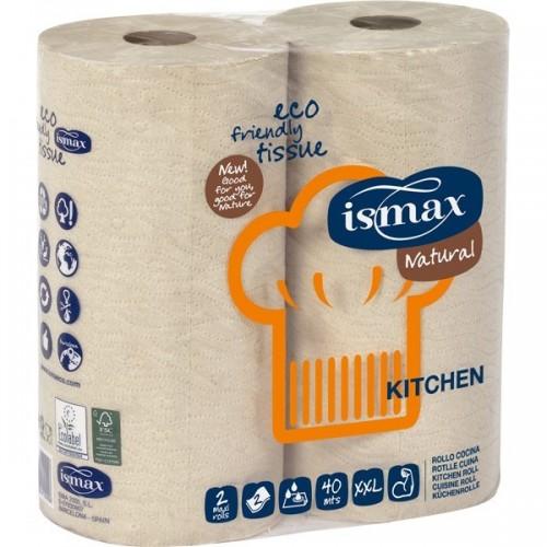 papel cocina doble capa ismax 2 rollos