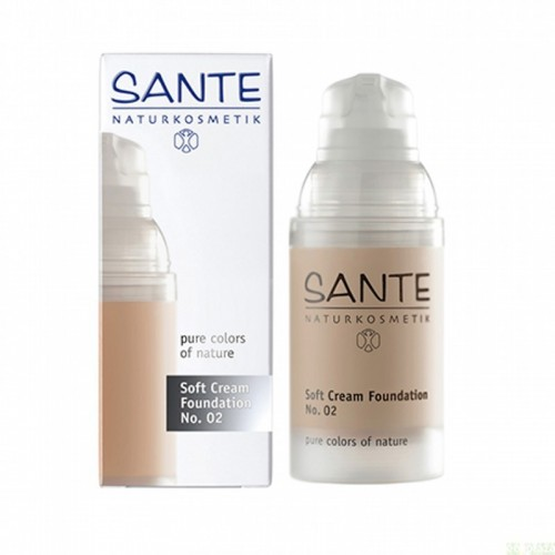 maquillaje 02 soft cream light beige sante 30 ml