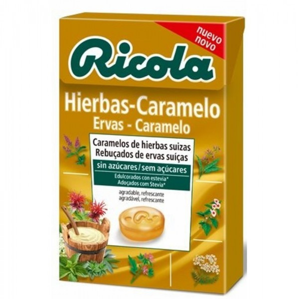 caramelos sin azucar hierbas caramelo ricola 50 gr