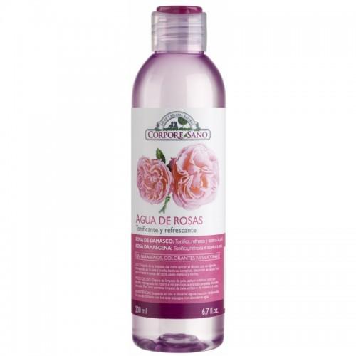 Agua rosas damascena...