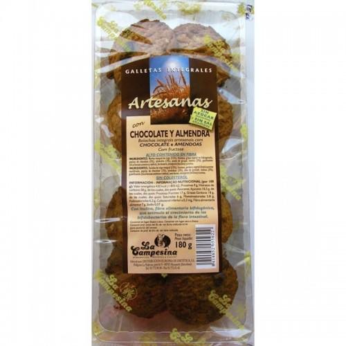 galleta artesana chocolate almendras campesina 180 gr