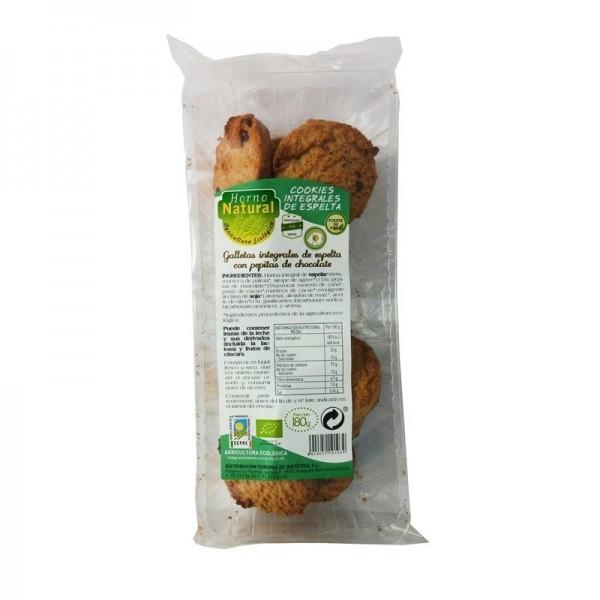 cookies espelta con pepitas horno natural 180 gr bio