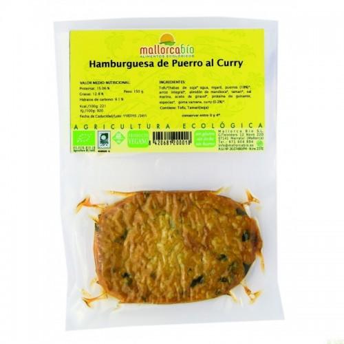 Hamburguesa puerro curry...