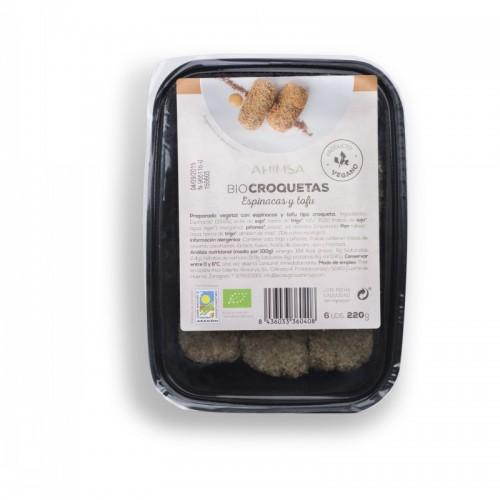 Croquetas tofu espinacas...