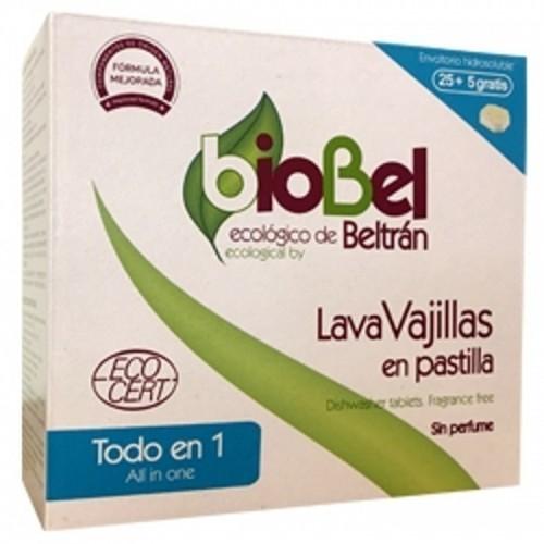 lavavajillas pastilla biobel 30 unidades todo en uno