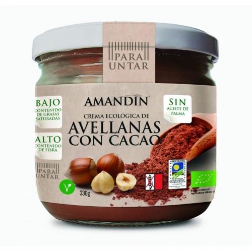crema avellanas cacao amandin 330 gr