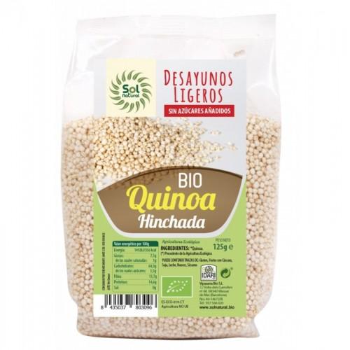 Quinoa hinchada desayuno...