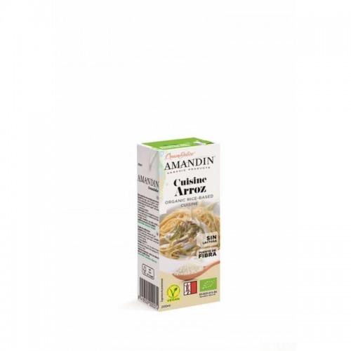 crema cuisine arroz amandin 200 ml bio