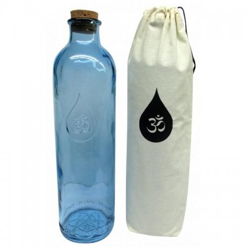 Botella cristal azul OMWATER