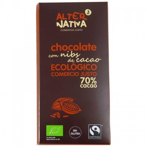 Chocolate 70% nibs...