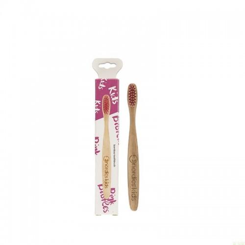 Cepillo bambu niños rosa...