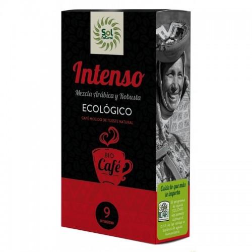 cafe intenso molido sol natural 250 gr bio