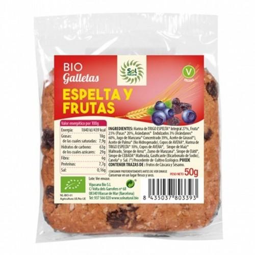 Galleta espelta frutas SOL...