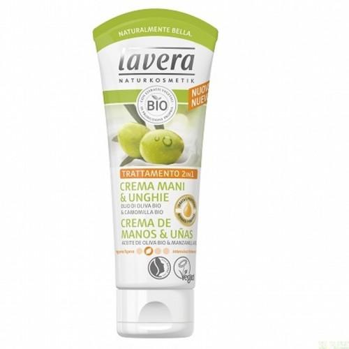 Crema manos uñas  LAVERA 75 ml