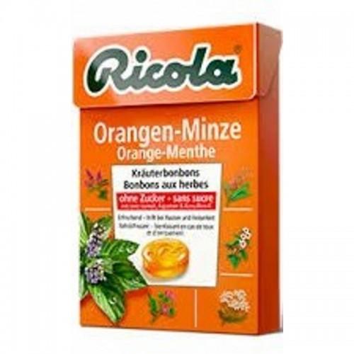 caramelos sin azucar naranja menta ricola 50 gr