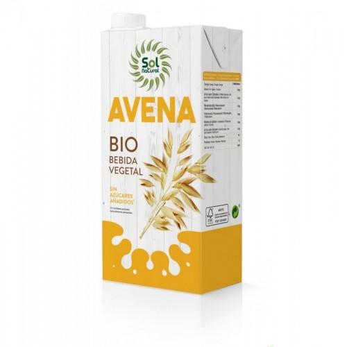 bebida avena natural sin azucar sol natural 1l bio