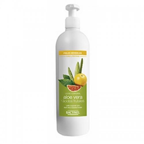 leche corporal aloe frutal bactinel 400 ml